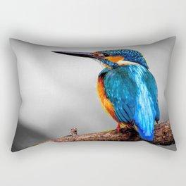 Magnificent Marvelous Blue Gold Alcedo Atthis Fishing Bird Close Up Ultra HD Rectangular Pillow