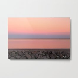Sunset on Jekyll Island Georgia Metal Print