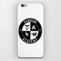 fandom iPhone & iPod Skins featuring Fandom Academy by Thg Fashion