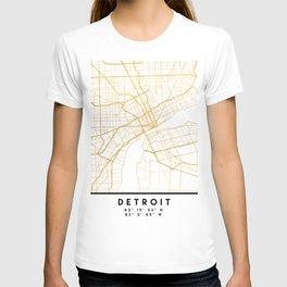 DETROIT MICHIGAN CITY STREET MAP ART T-shirt