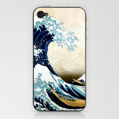 Kanagawa Oiled iPhone & iPod Skin