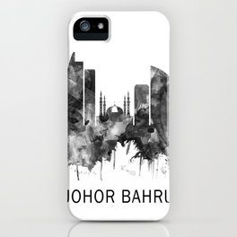 Johor Bahru Malaysia Skyline BW iPhone Case