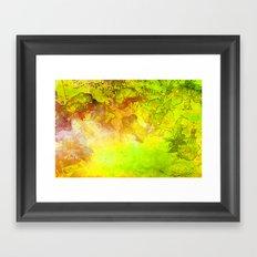 GOLDEN NATURE ORCHIDS Framed Art Print