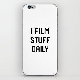I Film Stuff Daily Movie Directors Film School iPhone Skin