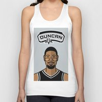 tim shumate Tank Tops featuring Tim Duncan by Will Wild