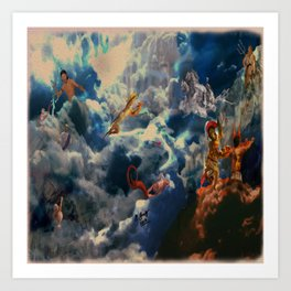 Battle of the Gods Art Print