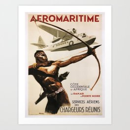 Vintage poster - Aeromaritime Art Print