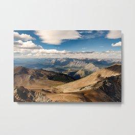 Patagonia mountain landscape, Argentina Metal Print