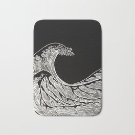 Silver Wave Bath Mat