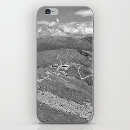 fisser yoke alps panorama serfaus fiss ladis tyrol austria europe black white iPhone Skin