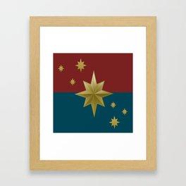 Stars and Heart Framed Art Print