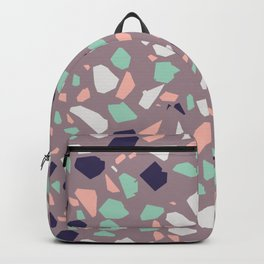 Modern Terrazzo with Neutral and Natural Colors Backpack