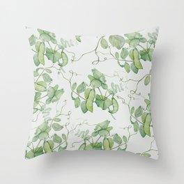 Floating Peas Throw Pillow