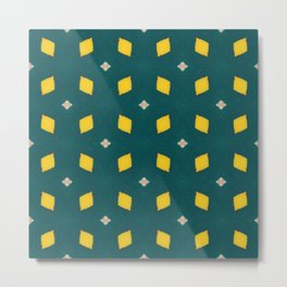 Playful Abstract Lemons Geometry Background Metal Print