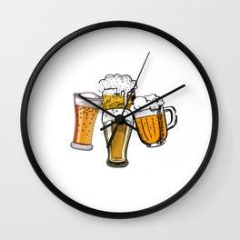 Prost Salud Cheers Cin Cin Oktoberfest Wall Clock
