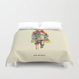 Until She Smiles Duvet Cover
