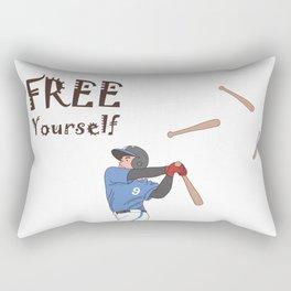Bat Flip Square Transparent Rectangular Pillow