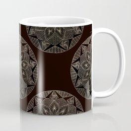 Maroon Mandala Pattern Coffee Mug