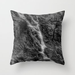 Waterfalls - Black And White Fine Art At Barron Gorge National Park Throw Pillow
