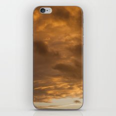 orange clouds iPhone & iPod Skin