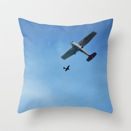 Planes Flying Blue Sky Throw Pillow