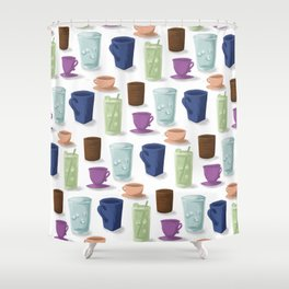 Drinks in Cups Shower Curtain