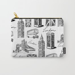 Vintage London Carry-All Pouch