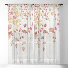 Vines Watercolor Sheer Curtain