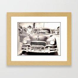 Mom and her Antique Car  Framed Art Print
