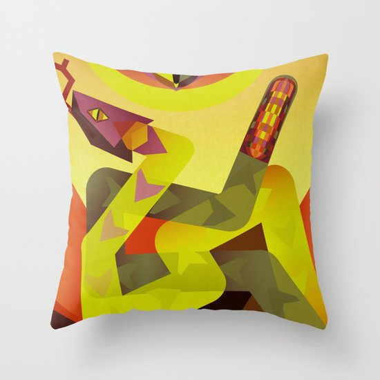Rattlesnakes Throw Pillow