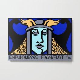 Jugendstil Einfuhrmesse Frankfurt blue Metal Print