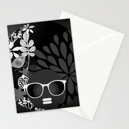 Afro Diva : Sophisticated Lady Black & White Stationery Cards