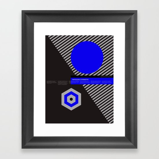 Impossible Symmetry - By Framed Art Print