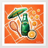 Perrier by Madrica Art Print