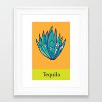 tequila Framed Art Prints featuring Tequila by Heather Martinez