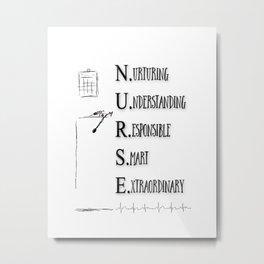 Nurse Description Metal Print