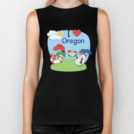 Ernest and Coraline | I love Oregon Biker Tank