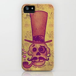 Skull Dandy iPhone Case