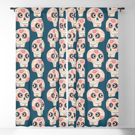 Mexican Dia de los Muertos Day of the Dead Blackout Curtain