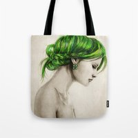 clover Tote Bags featuring Clover by Isaiah K. Stephens