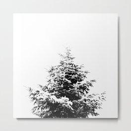 Minimal fir tree portrait Metal Print
