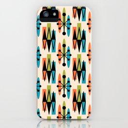 Mid Century Modern Atomic Triangles 333 iPhone Case
