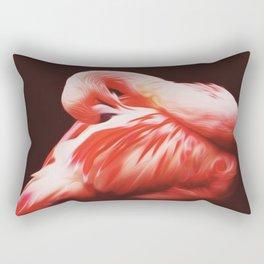 flamongo, oil, photo Rectangular Pillow
