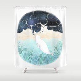 Beluga Dreams Shower Curtain