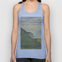 Georges Seurat Seascape at Port-en-Bessin, Normandy 1888 Painting Unisex Tank Top