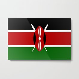 Flag of Kenya Metal Print