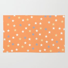 Peach Pastel Background With Stars Rug