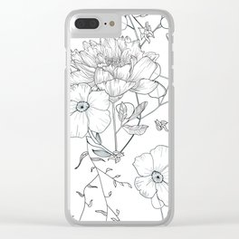 Floral field pattern Clear iPhone Case