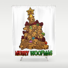 Merry Woofmas - Merry Christmas For Dog Lovers Shower Curtain
