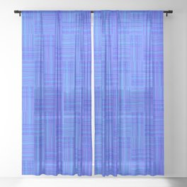 Interpretive Weaving (Nightfall) Sheer Curtain